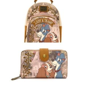 Loungefly LADY + the TRAMP Backpack + Wallet NWT